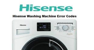 Hisense Washing Machine Error Codes