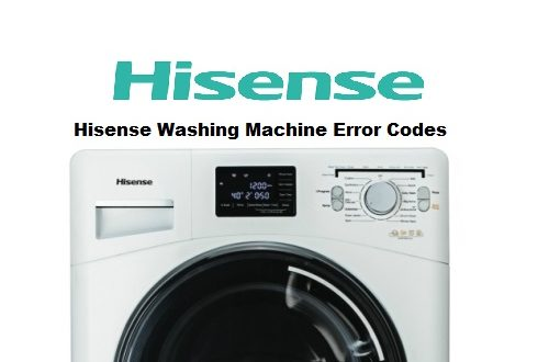 Hisense Washing Machine Error Codes Troubleshooting