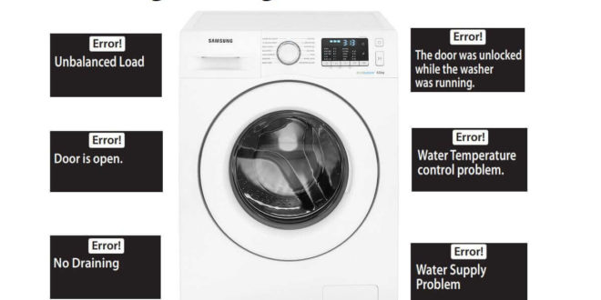 Samsung Washing Machine Error Codes-Troubleshooting,Problems