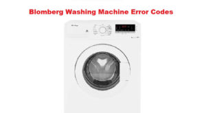Blomberg Washing Machine Error Codes