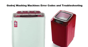 Godrej Washing Machines Error Codes and Troubleshootig