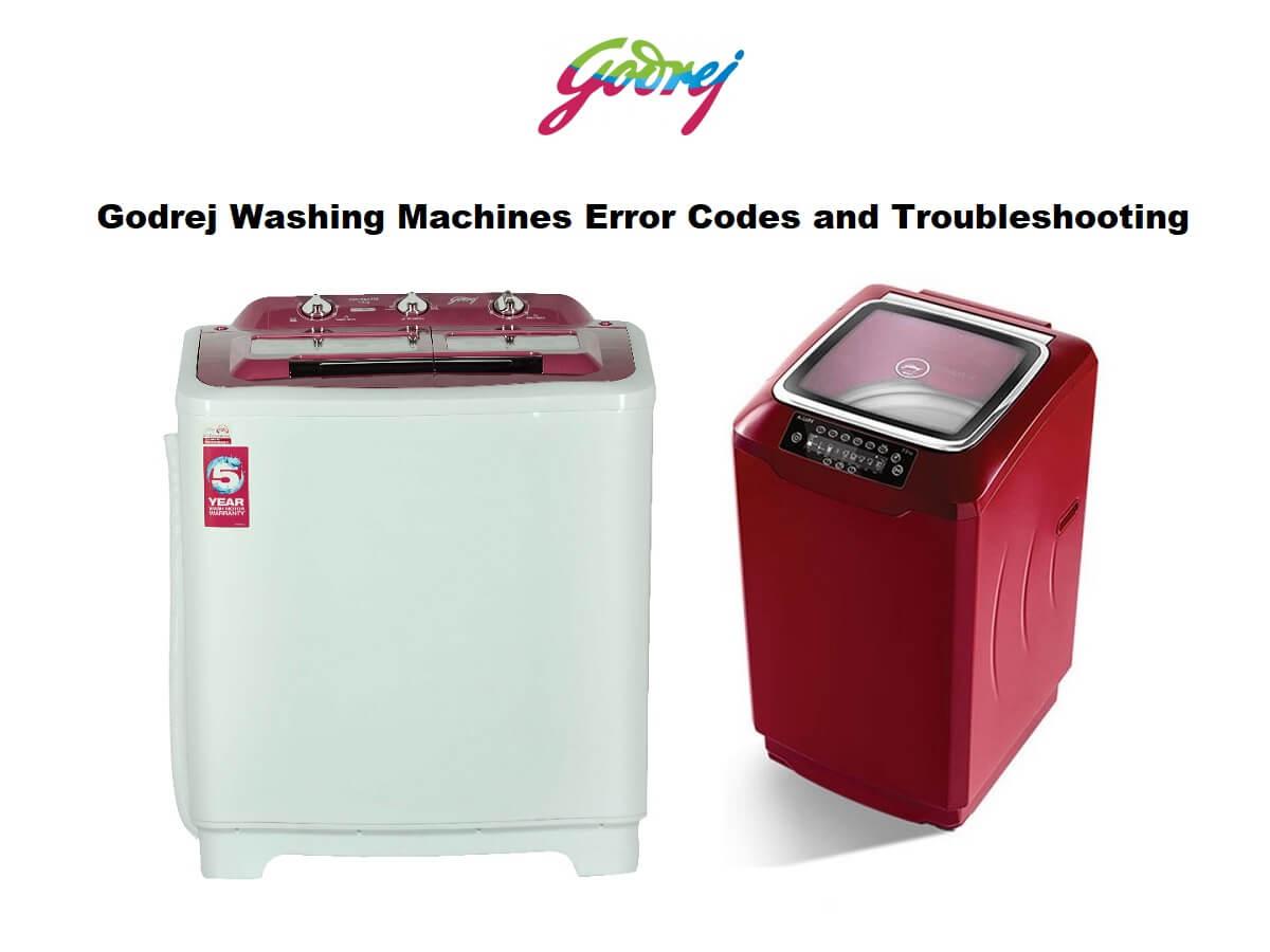 Godrej Washing Machines Error Codes and Troubleshootig