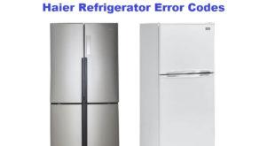Haier Refrigerator Error Codes