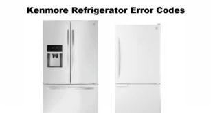 Kenmore Refrigerator Error Codes