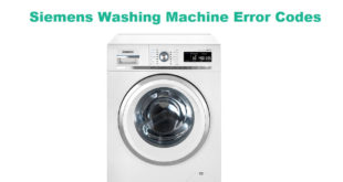 Siemens Washing Machine Error Codes