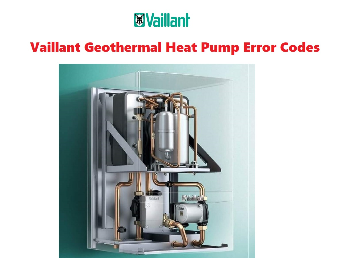 Vaillant Geothermal Heat Pump Error Codes