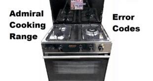 Admiral Cooking Range Error Codes