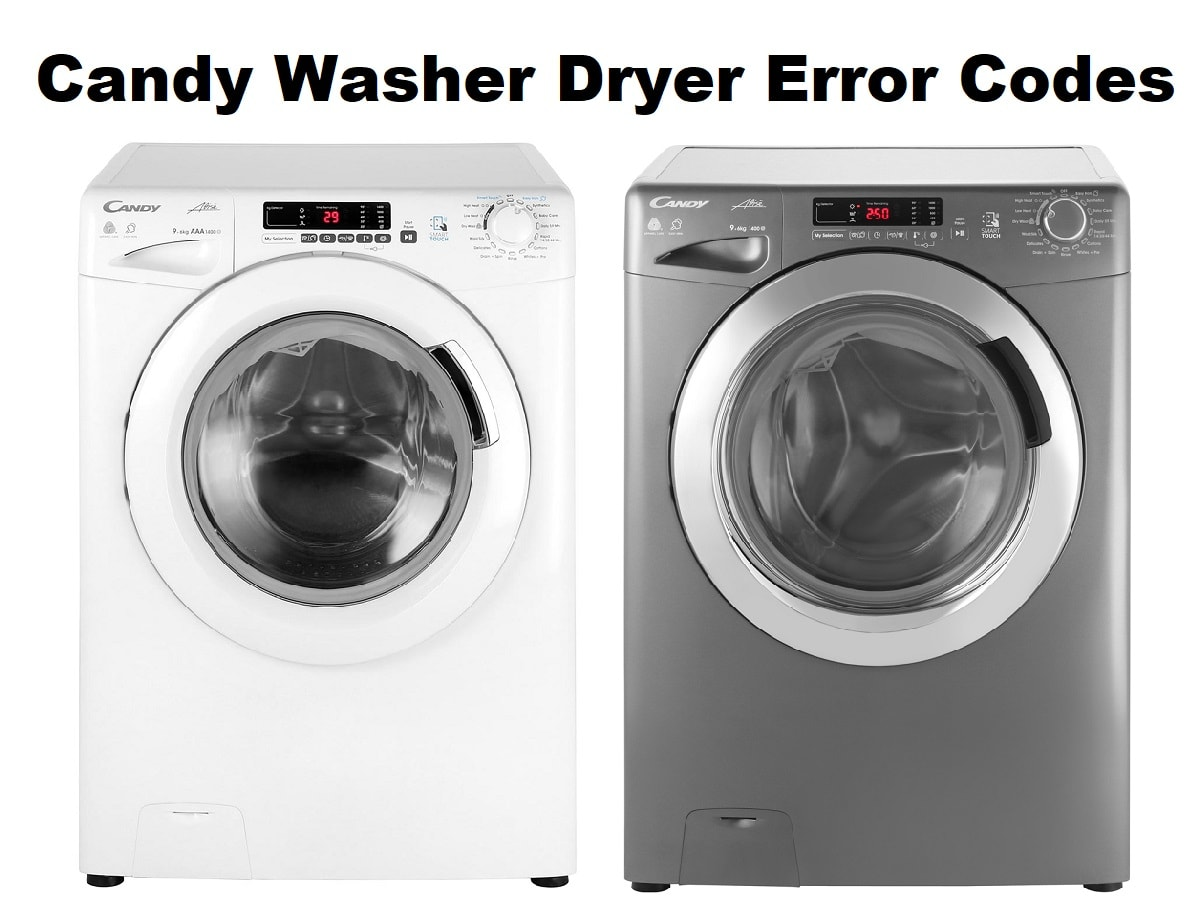 Candy Washer Dryer Error Codes