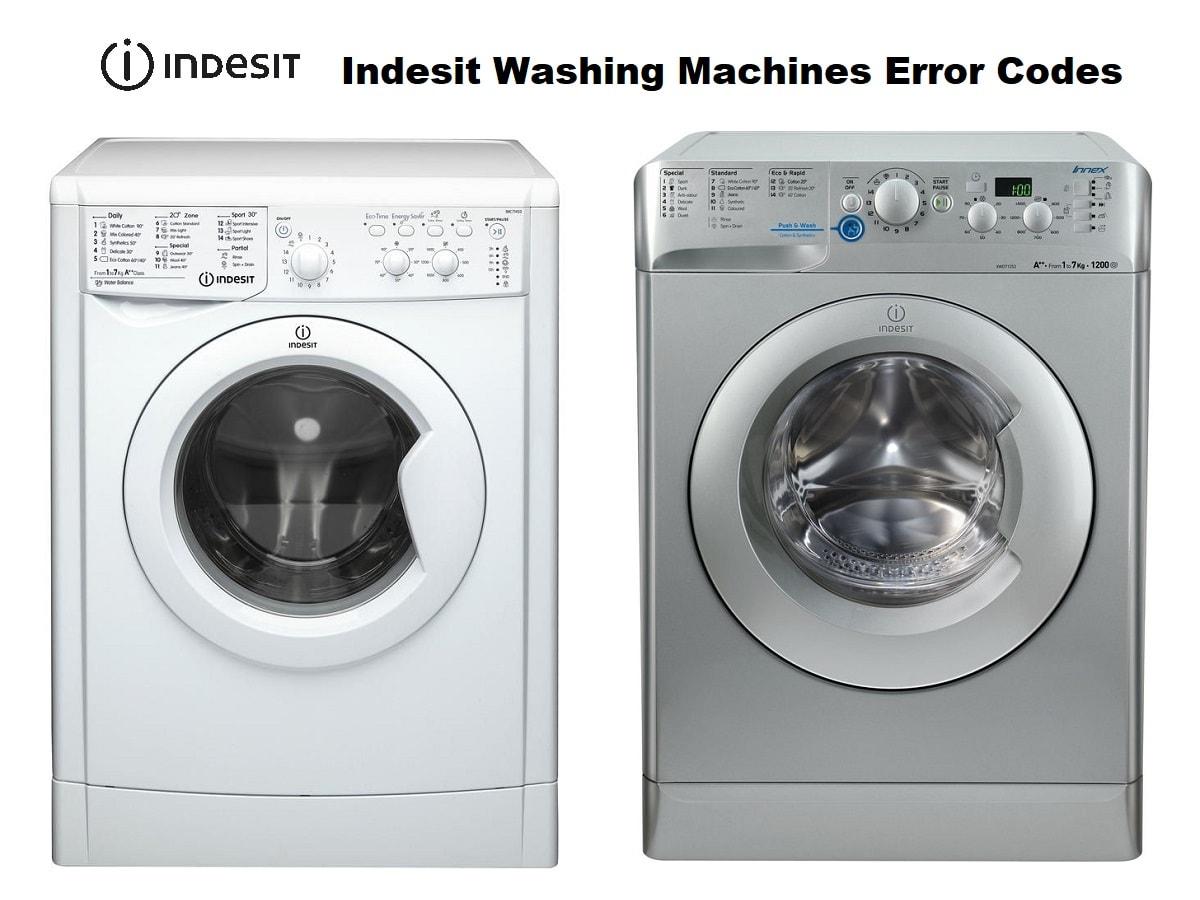 Indesit Washing Machines and Washer Dryers Error Codes
