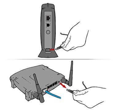 Unplug your modem