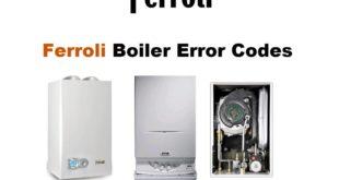 Ferroli Boiler Error Codes