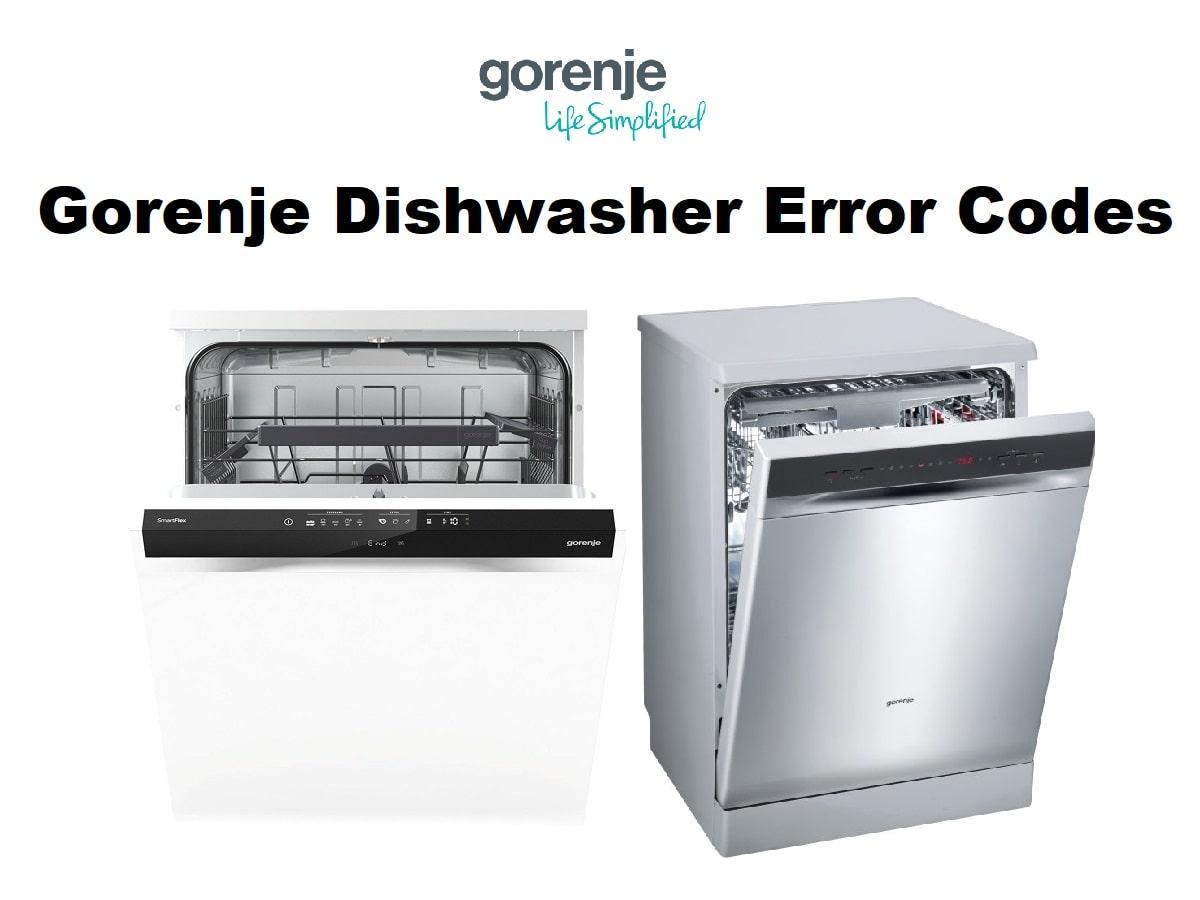 Gorenje Dishwasher Error Codes