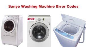 Sanyo Washing Machine Error Codes