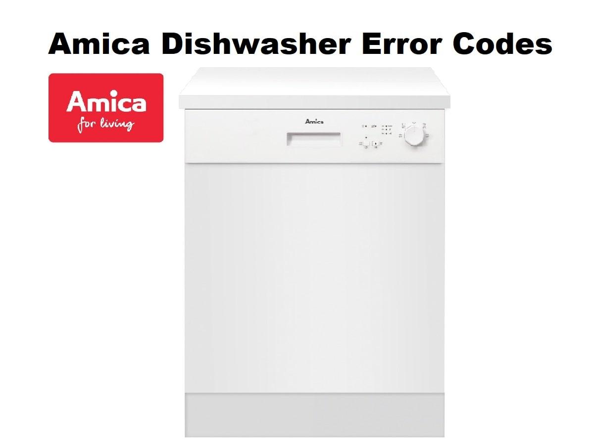Amica Dishwasher Error Codes