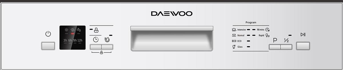 Daewoo Dishwasher Control Panel 2
