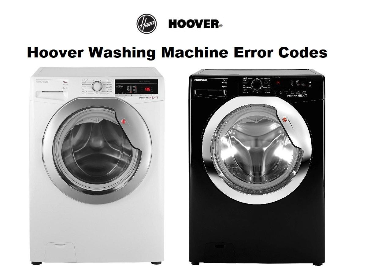 Hoover Washing Machine Error Codes