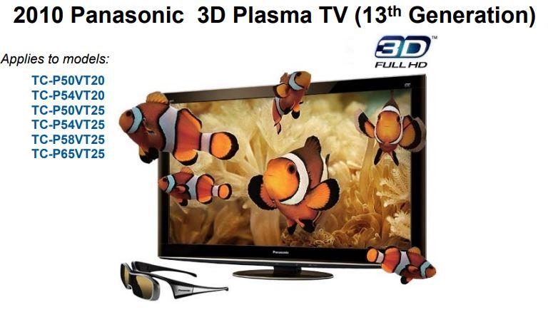 2010 Panasonic 3D Plasma TV (13th Generation)