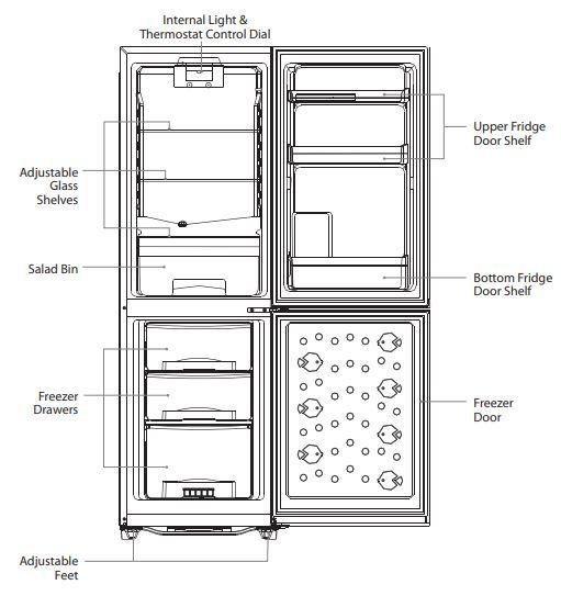Logik Refrigerator Product Overview