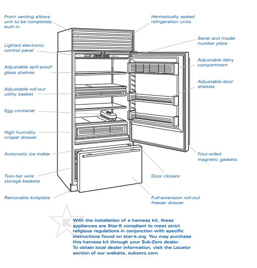 Model 650 Over-and-Under Refrigerator - Freezer