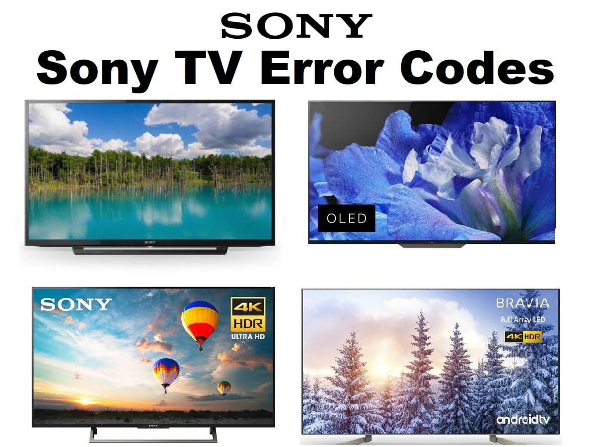 Sony TV Error Codes