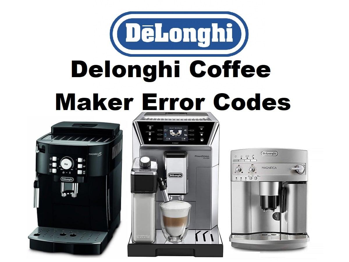 Delonghi Coffee Maker Error Codes