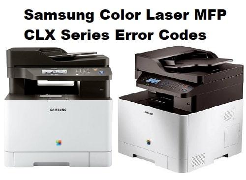 Samsung Color Laser MFP CLX Series Error Codes