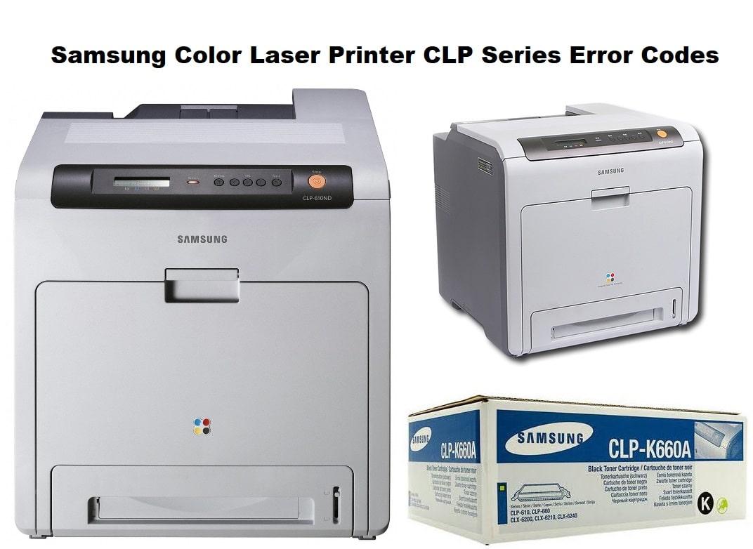 Samsung Color Laser Printer CLP Series Error Codes