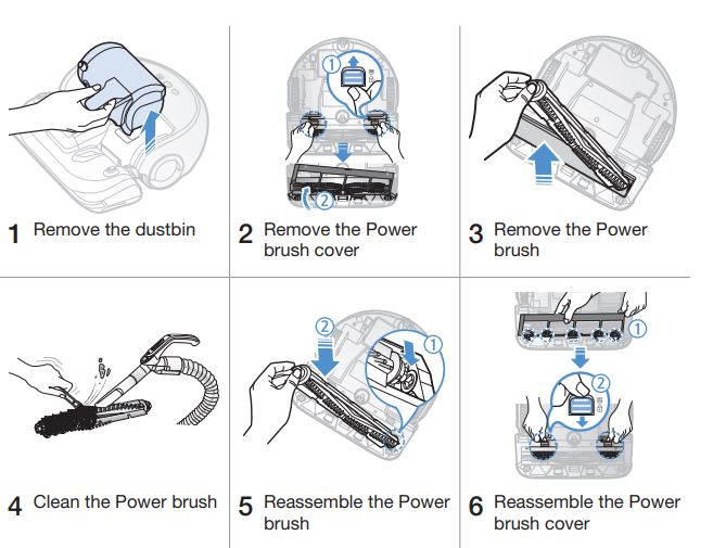 Cleaning the Power brush