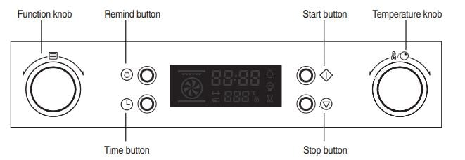 Daewoo Oven Control Panel