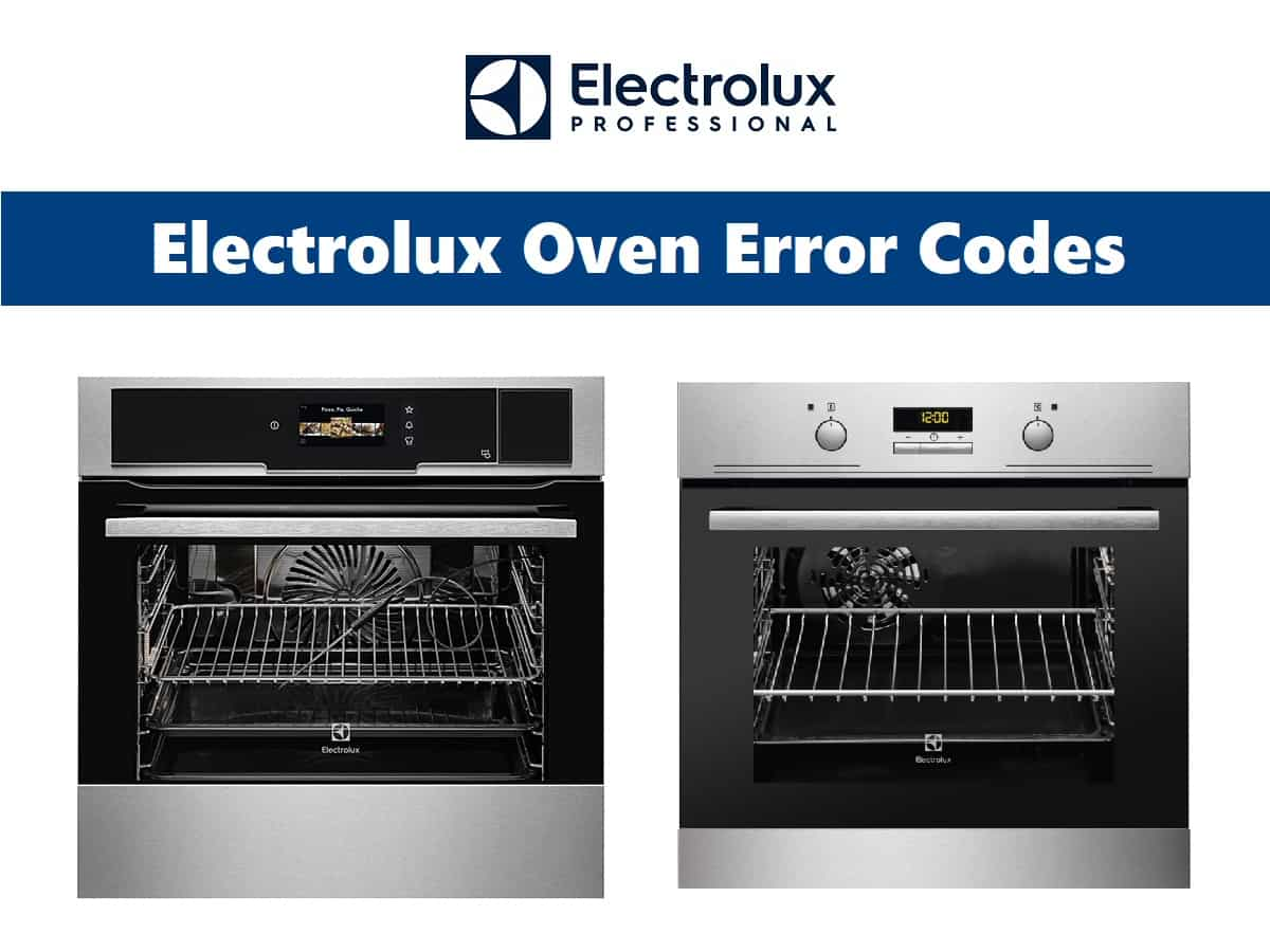 Electrolux Oven Error Codes