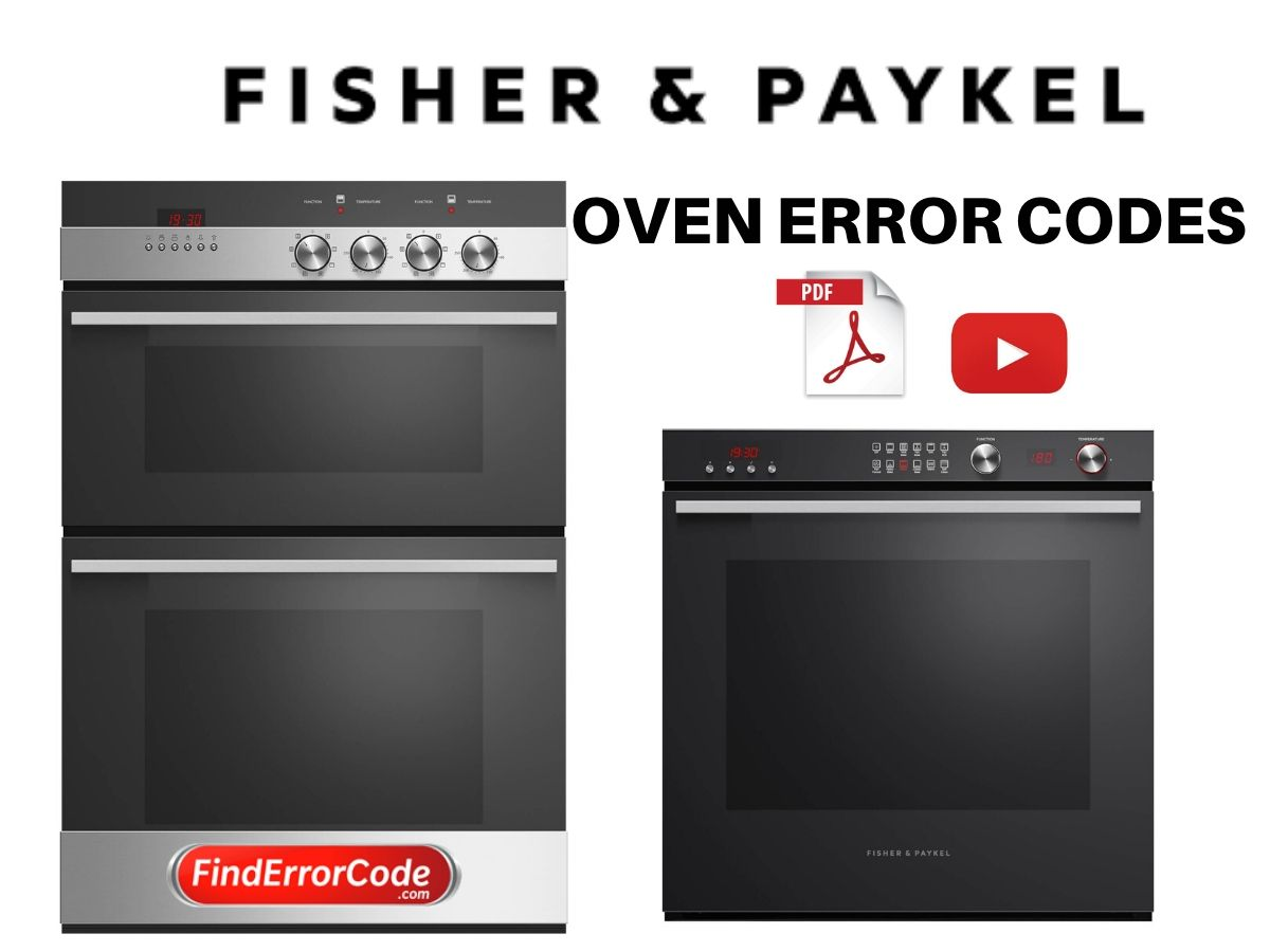Fisher and Paykel Oven Error Codes