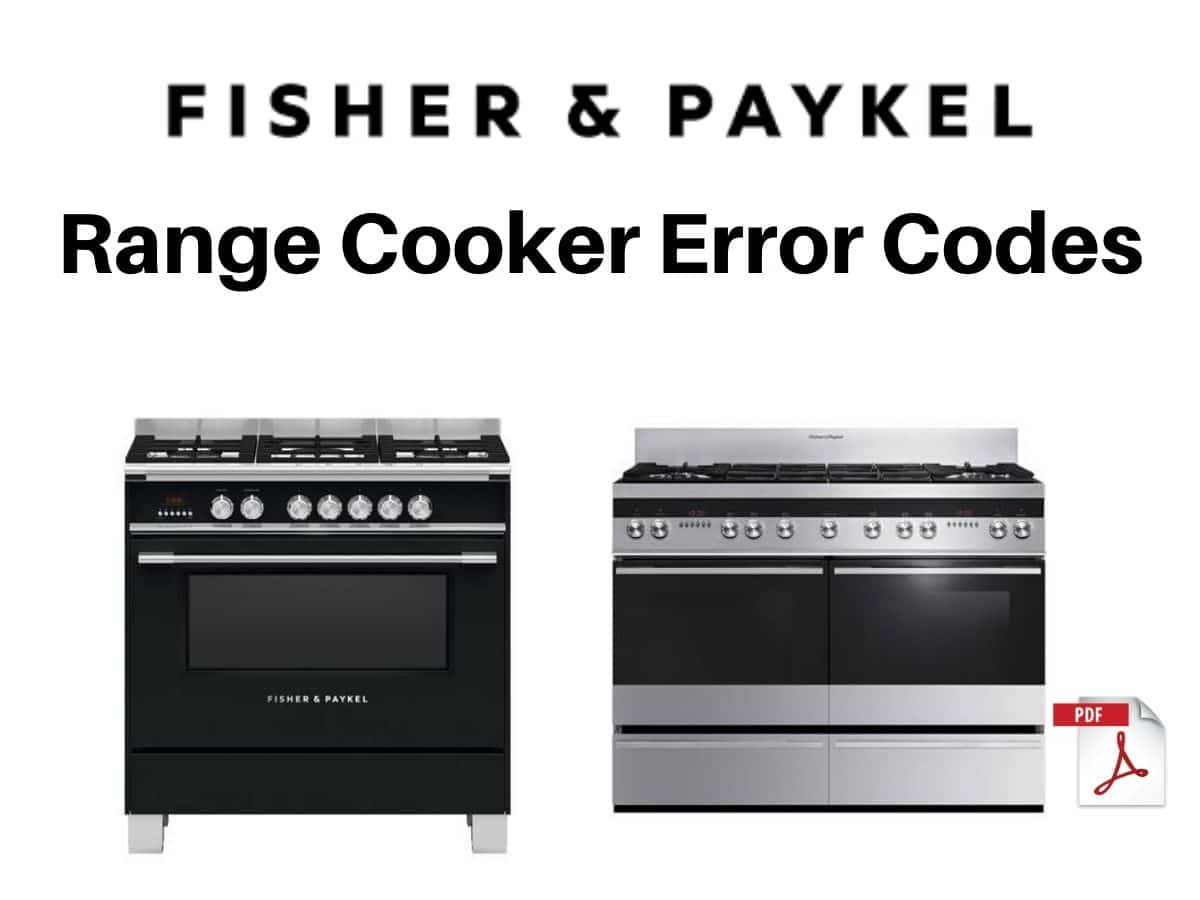 Fisher and Paykel Range Cooker Error Codes