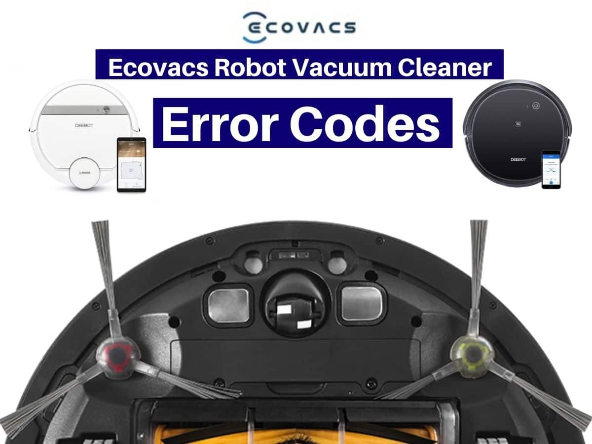 Ecovacs Robot Vacuum Cleaner Error Codes